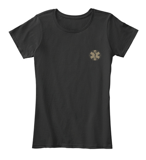 I'm An Emt Till I Die Black T-Shirt Front