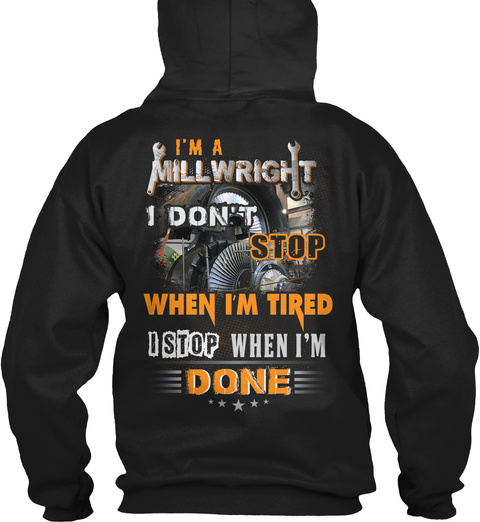 Millwright Hoodie Christmas Special Black T-Shirt Back