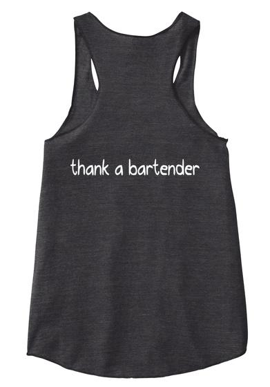 Thank A Bartender Eco Black T-Shirt Back