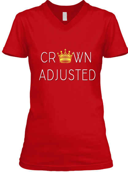 Crown Adjusted Red T-Shirt Front