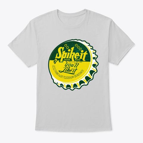 Vintage Spike It Soda Bottle Cap Light Steel T-Shirt Front