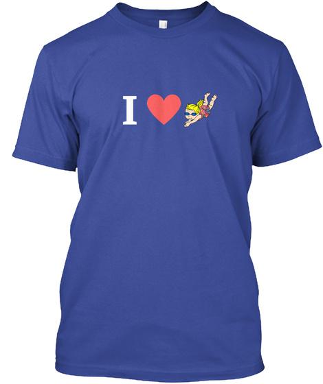 I Love Elizabeth Swims Tee Deep Royal T-Shirt Front
