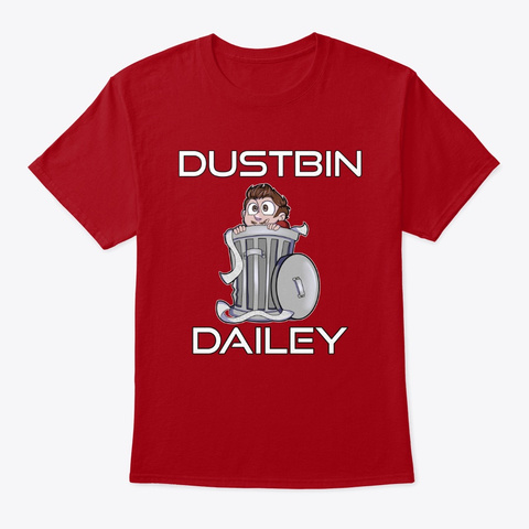 Dustbin Dailey Deep Red T-Shirt Front