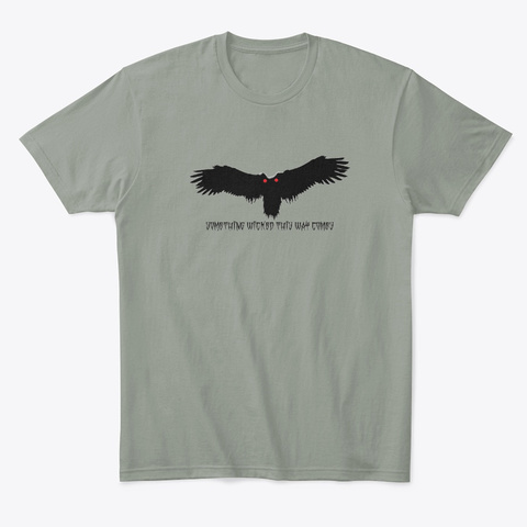 Mothman   Something Wicked Grey T-Shirt Front