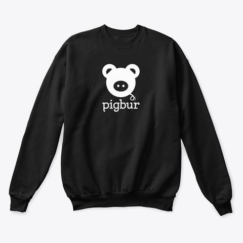 Pigbur Short Sleeve Tee Black T-Shirt Front