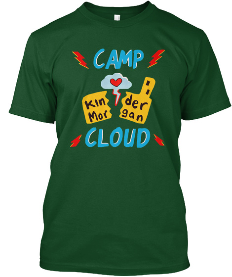 Camp Kinder Morgan Cloud Deep Forest T-Shirt Front