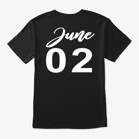 June 2   Gemini Black T-Shirt Back