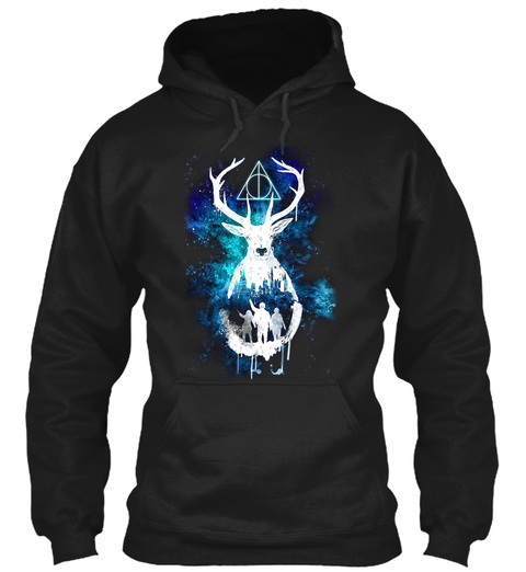 Patronus Deathly Hallows Expectopatronum Black Sweatshirt Front