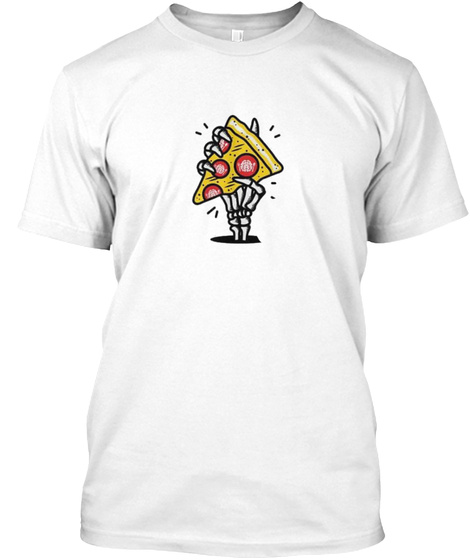 Pizza White T-Shirt Front