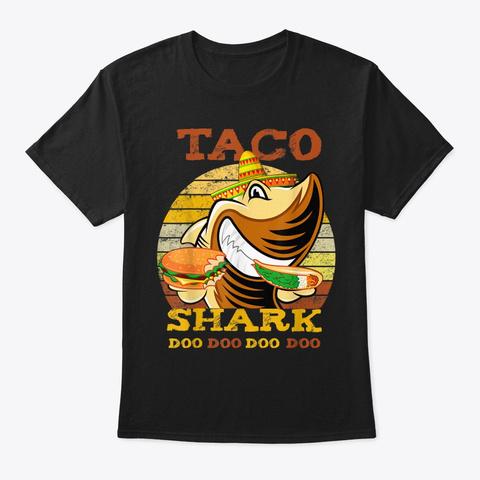 Shark Shirt Halloween Gift For Men Women Black T-Shirt Front