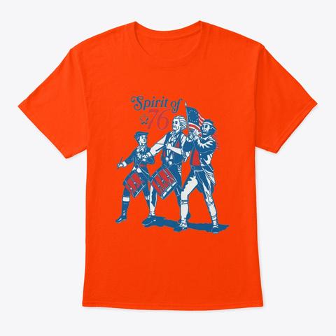 Spirit Of 76 Orange T-Shirt Front