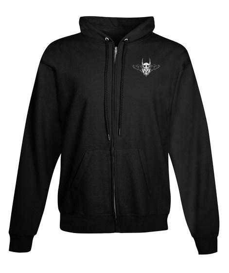 Sons Of Odin Full Zip Ups Black T-Shirt Front