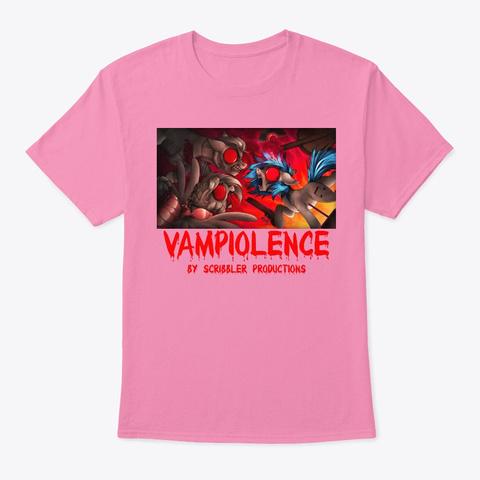 Scribbler   Vampiolence Pink T-Shirt Front
