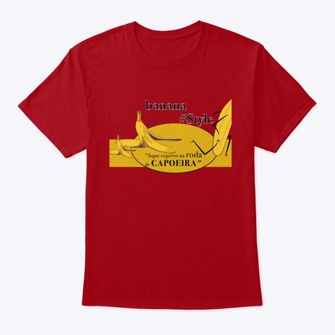 #Rasteira #Capoeira  Deep Red T-Shirt Front