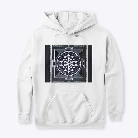 Sacred Geometry White T-Shirt Front