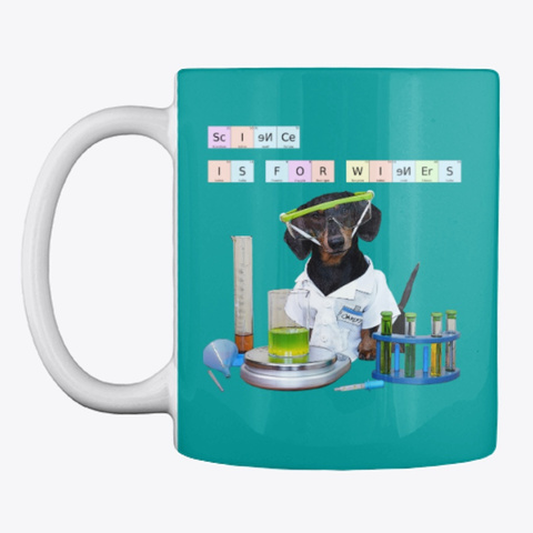 Science Is For Wieners, Mug Aqua Mug Front