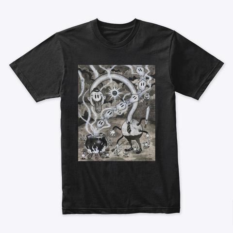 Mr. Sneedley Graphic Cartoon T Shirt  Black T-Shirt Front