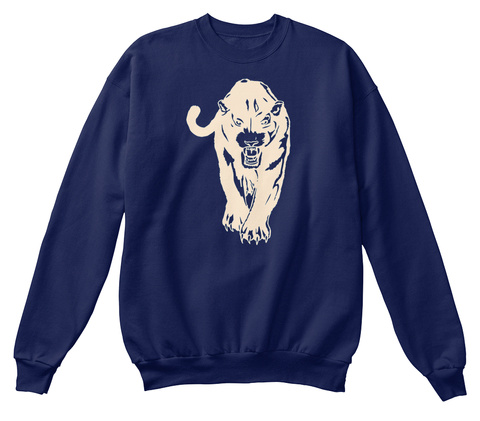 Palmetto Panther Sw/Phs Navy  T-Shirt Front