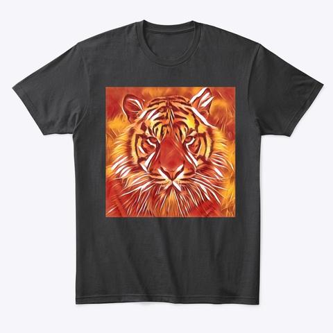 Fire Tiger T Black T-Shirt Front