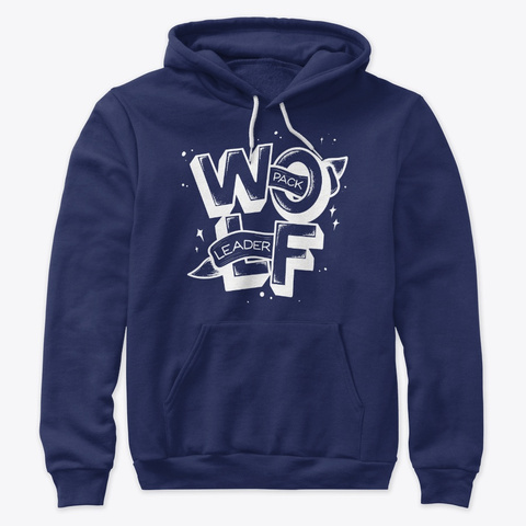 Wolf Pack! Navy T-Shirt Front