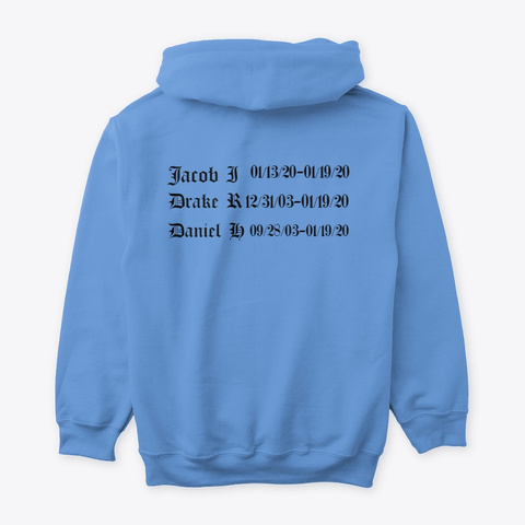 Jacob Drake Daniel Carolina Blue T-Shirt Back