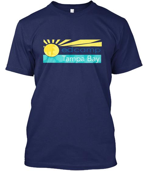 Edcamp Tampa Bay Navy T-Shirt Front