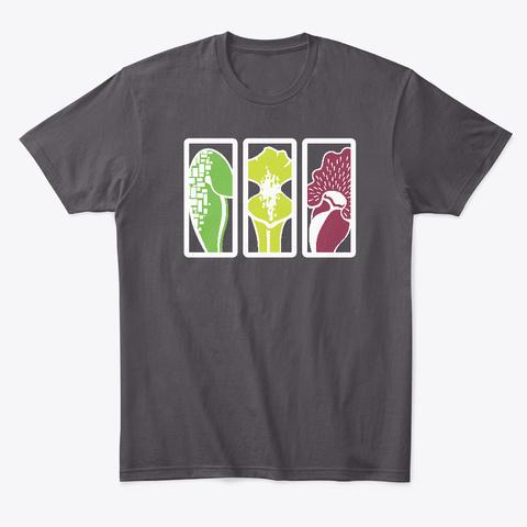 Carnivorous Plants   Sarracenia Heathered Charcoal  T-Shirt Front