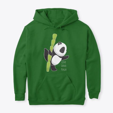 Pullover: Live Love Yoga. Irish Green T-Shirt Front