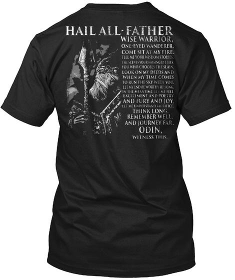 Viking   Hail All Father Black T-Shirt Back