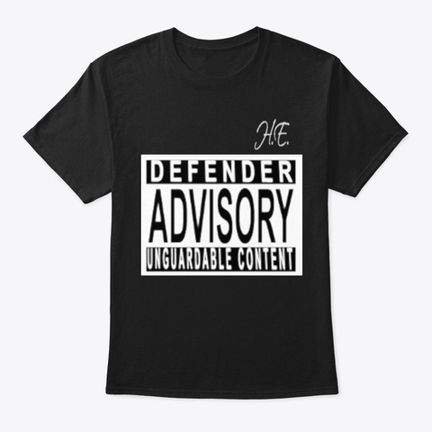 Defender Advisory Basketball Apparel Black T-Shirt Front