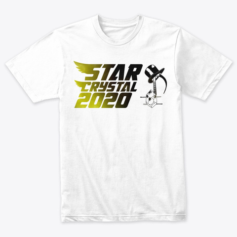 Star Crystal 2020 Heather White T-Shirt Front