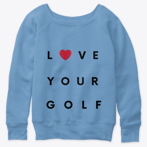 Love Your Golf  Blue Triblend  T-Shirt Front