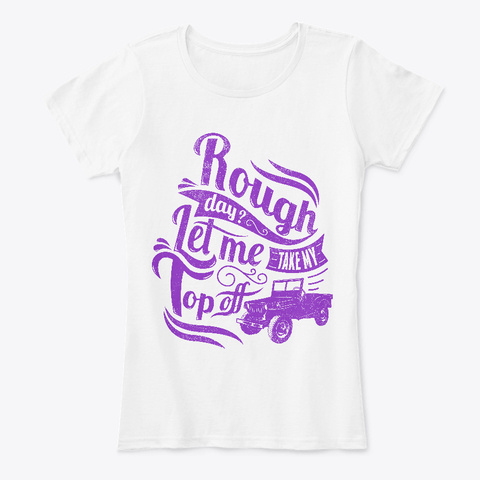 Rough Day?   Women's Tee White T-Shirt Front