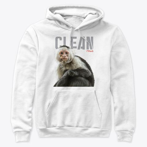 Mikro Clean Capuchin Monkey White T-Shirt Front