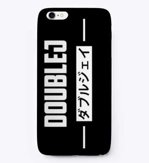 Double J Japanese Design Phone Case Black T-Shirt Front