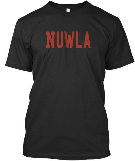 Nuwla Black T-Shirt Front