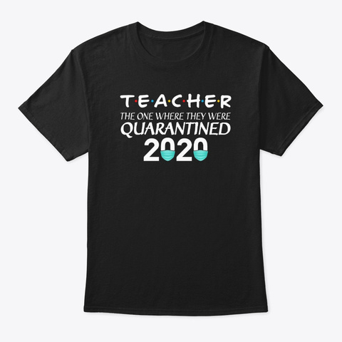 Qyarantind Teacher Tshirt Black T-Shirt Front