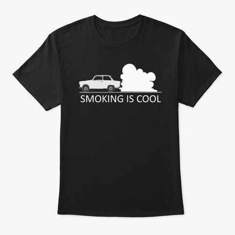 Smoking Is Cool Black T-Shirt Front