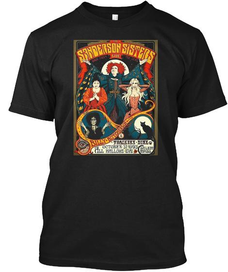 Sanderson Sisters Tour Poster T Shirt Black T-Shirt Front