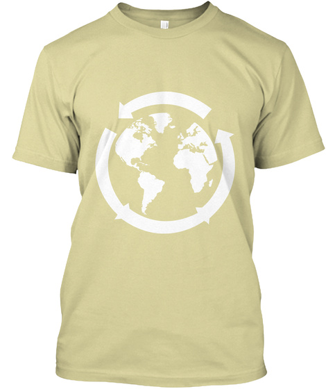 The Earth Needs Friends  Sand T-Shirt Front