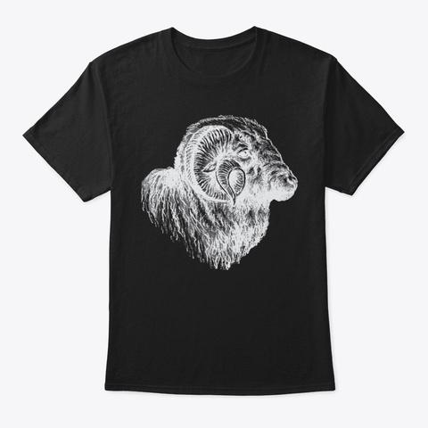 Ram Black T-Shirt Front