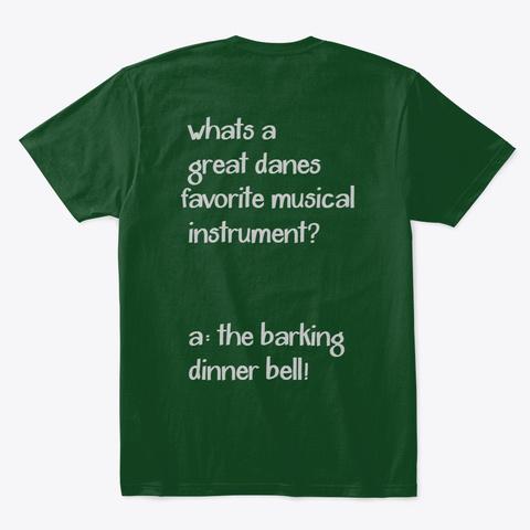 Dinner Bell Forest Green  T-Shirt Back