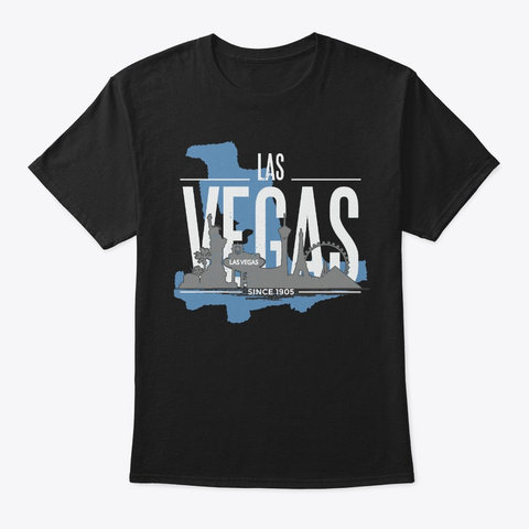 Rugged Style Las Vegas Since 1905 Black T-Shirt Front