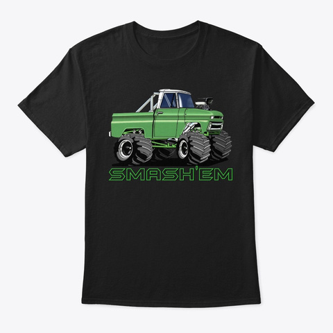 American Classic Muscle Truck Tee Shirt Black T-Shirt Front