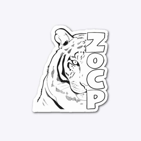 Zo Cp Tiger Sticker Standard T-Shirt Front