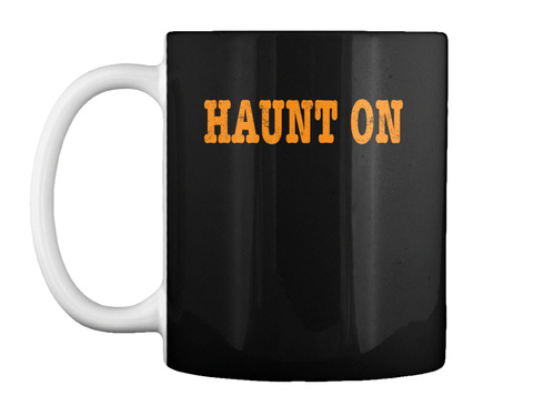 Haunt On Paranormal Investigator Ghost H Black T-Shirt Front