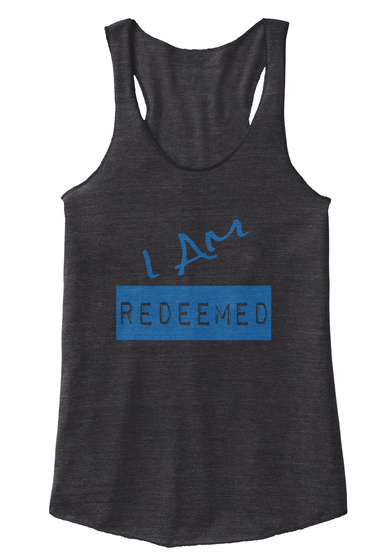 I Am Redeemed Eco Black T-Shirt Front