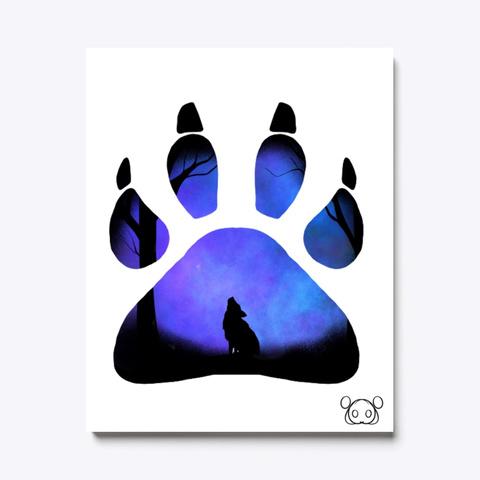 Wolf Blue Paw Print Standard T-Shirt Front