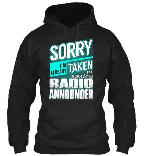 Radio Announcer   Super Sexy Black T-Shirt Front