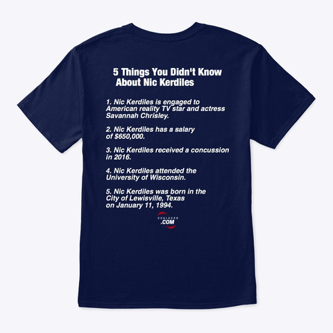 5 Things You Didn't Know About... Navy T-Shirt Back
